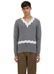 Acne Studios Kapila Waved Knit Sweater Grey