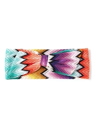 Missoni Zig Zag Crochet Headband Pink And Purple
