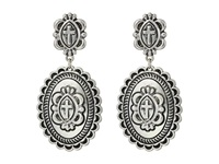 Gypsy Soule Cross Concho Dangle Earrings Silver Earring