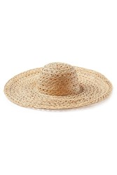 Ale By Alessandra Woven Raffia Hat Gr. One Size