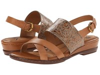 Sofft Sassandra Luggage Vege Gold Western Tool Women's Sandals Brown