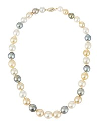 Belpearl 14K Multicolor Tahitian And South Sea Pearl Necklace Women's