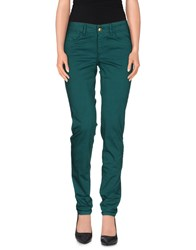 Just Cavalli Trousers Casual Trousers Women Emerald Green