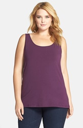Nic Zoe 'Perfect' Tank Plus Size Vintage Grape