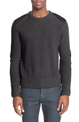 Belstaff Men's 'Parry' Leather Trim Merino Wool Sweater