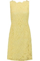 Emilio Pucci Cotton Blend Corded Lace Dress Yellow