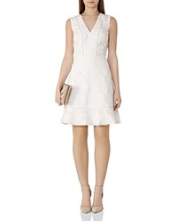 Reiss Bee Floral Embroidered Dress Off White