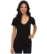 Lamade V Pocket Tee Tissue Jersey Black Women's Short Sleeve Pullover