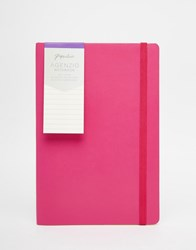 Paperchase Medium Agenzio Soft Ruled Fuschia Notebook Multi