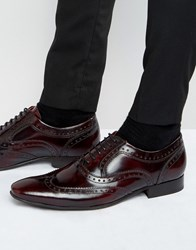 Base London Cane Patent Leather Brogues Bordo Brown