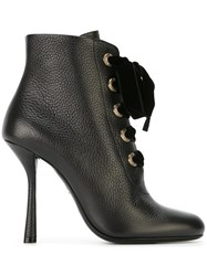 Lanvin Lace Up Ankle Boots Black