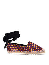 Pierre Hardy Cube Print Cotton Canvas Espadrilles
