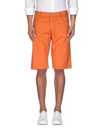 Armani Jeans Trousers Bermuda Shorts Men Orange