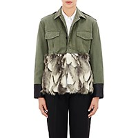 Harvey Faircloth Women's Faux Fur Embellished Field Jacket No Color