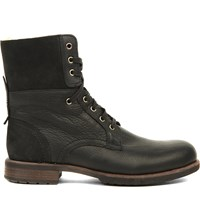 Ugg Laurus Leather Military Boots Black