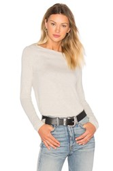Atm Anthony Thomas Melillo Long Sleeve Boat Neck Tee Beige