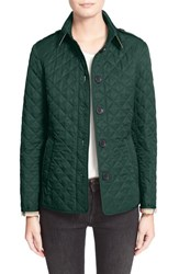 Burberry Women's Brit 'Ashurst' Quilted Jacket Racing Green