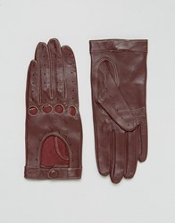 Lavand Leather Gloves Red