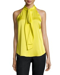Kobi Halperin Lina Halter Tie Neck Blouse Women's Golden Pear