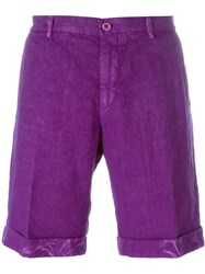 Etro Floral Fold Deck Shorts Pink And Purple