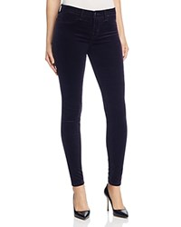 J Brand Skinny Velvet Jeans In Twilight Purple