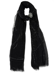 Lost And Found Tonal Print Scarf Black