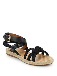 Etoile Isabel Marant Jute And Leather Sandals Black