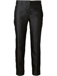 Burberry London Cropped Trousers Black