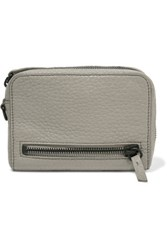 Alexander Wang Textured Leather Wallet Gray