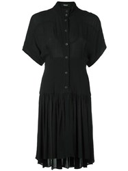 Rachel Comey Button Down Shirt Dress Black