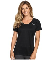 2Xu Tech Vent Short Sleeve Top Black Black Women's Clothing