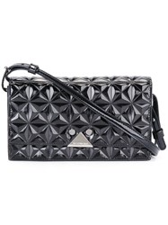 Emporio Armani Embossed Crossbody Bag Black