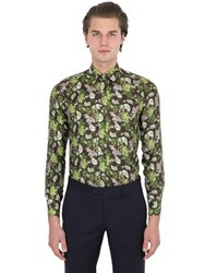 Larusmiani Printed Silk Satin Shirt