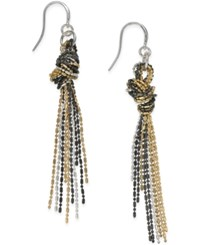 Alfani Tri Tone Knotted Drop Earrings Only At Macy's