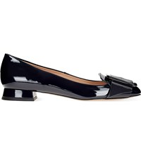 Whistles Harris Patent Leather Loafers Navy