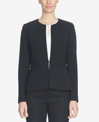 Cece Collarless Embellished Blazer Rich Black