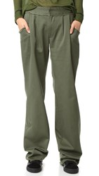 Baja East Canvas Pants Olive