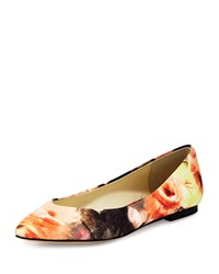 Bettye Muller Ponytail Fabric Ballerina Flat Coventry Floral
