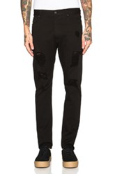 Palm Angels Regular Fit Ripped Jeans In Black