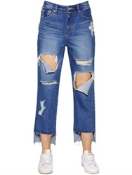 Steve J And Yoni P Patchwork Destroyed Cotton Denim Jeans