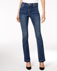 Inc International Concepts Petite Embellished Indigo Wash Bootcut Jeans Only At Macy's