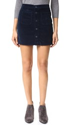 Mother Patch Pocket Miniskirt Navy
