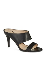 Nine West Intilect Leather Mules Black