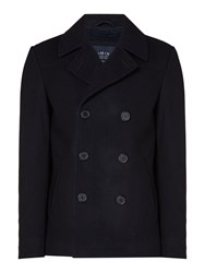 Criminal Men's Taylor Peacoat Navy