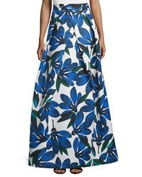 Milly Floral Printed Ball Skirt Blue Women's Size 12