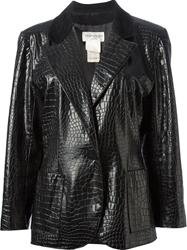 Yves Saint Laurent Vintage Faux Leather Jacket Black