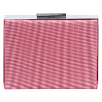 French Connection Ana Mesh Grid Clutch Bag Masai Red