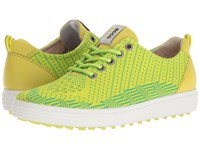 Ecco Casual Hybrid Knit Lime Punch Toucan Neon Sulphur Women's Golf Shoes Green