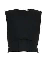 Balenciaga Double Layer Hem Sleeveless Crepe Top