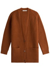 Vince Wool And Cashmere Cardigan Orange